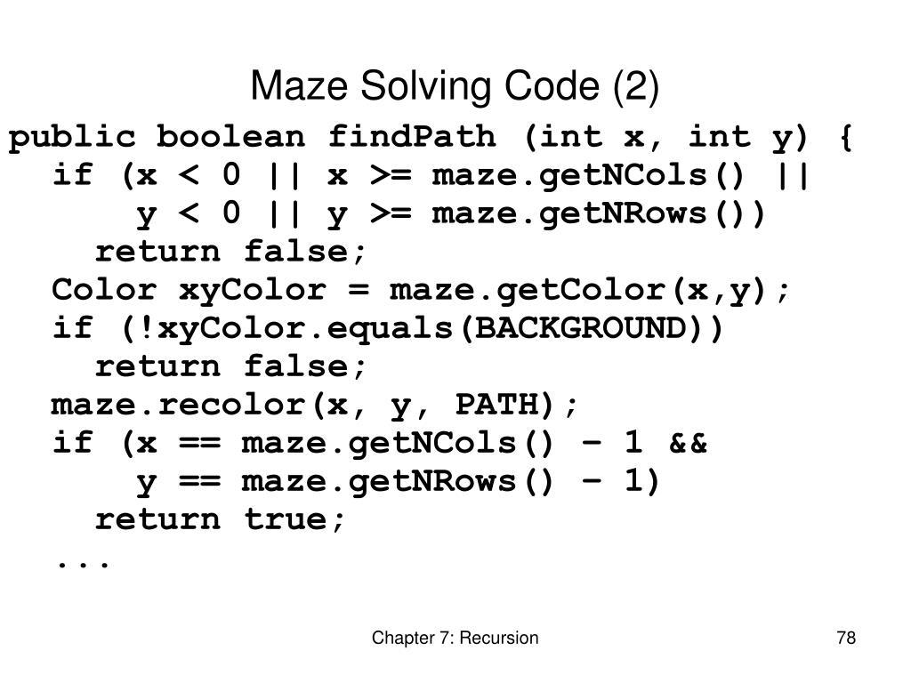 Maze Solving Code (2)