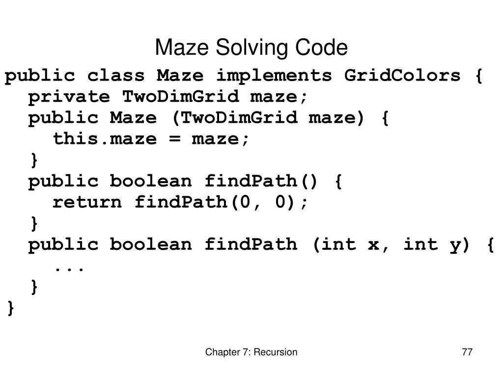 Maze Solving Code