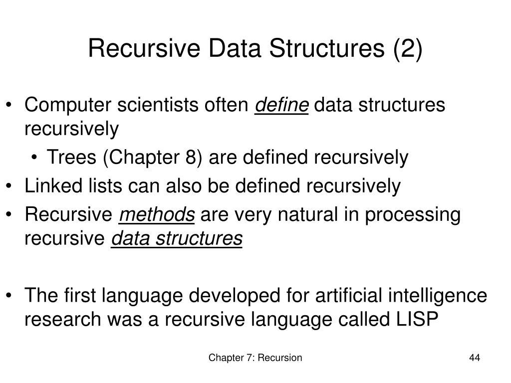 Recursive Data Structures (2)