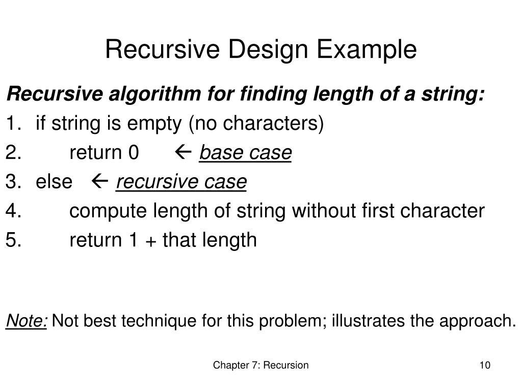 Recursive Design Example