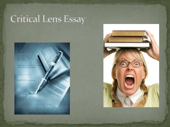 Critical lens essay it is only with the heart