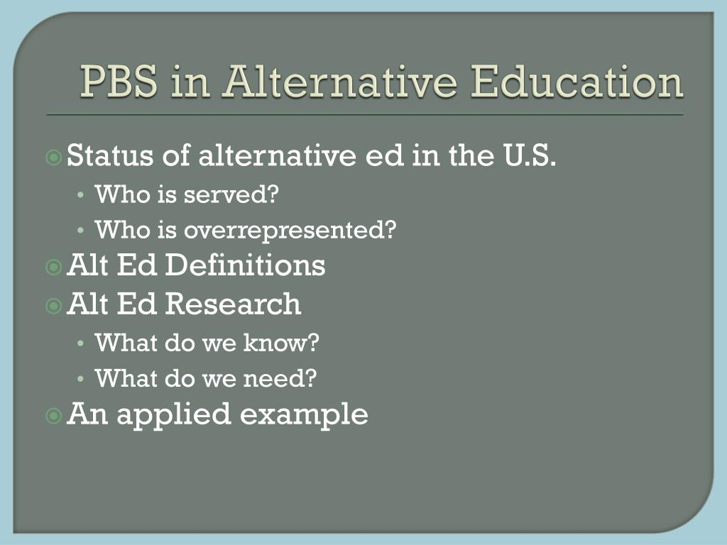 PBS in Alternative Education