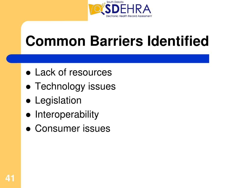 Common Barriers Identified