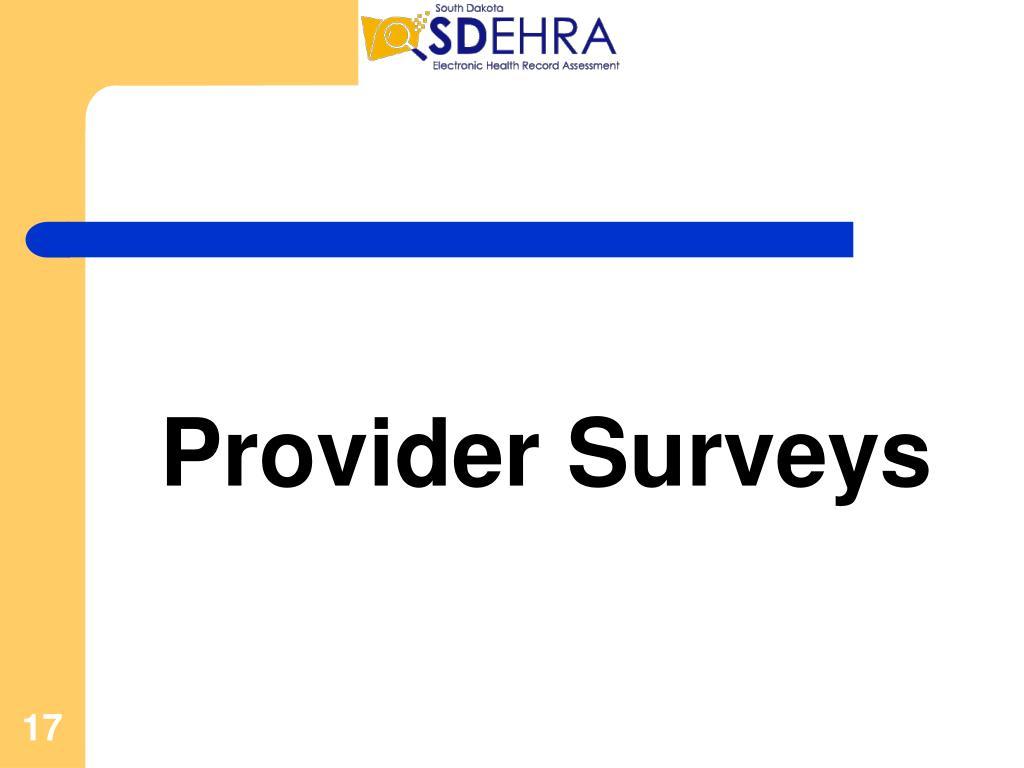 Provider Surveys