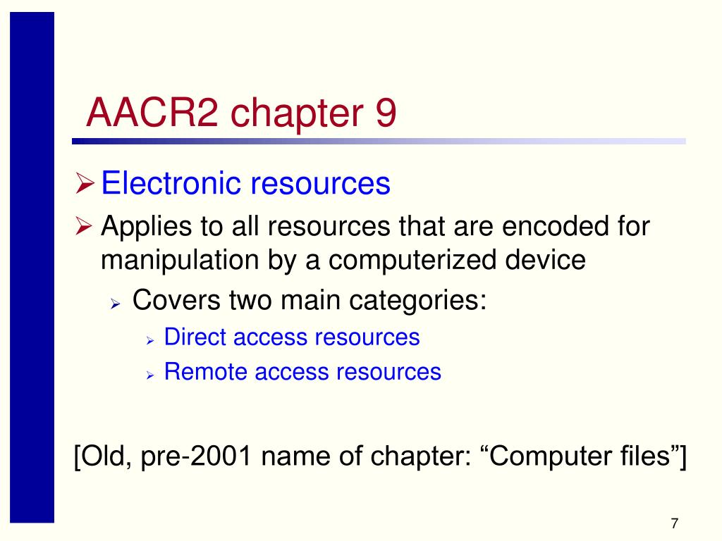 AACR2 chapter 9