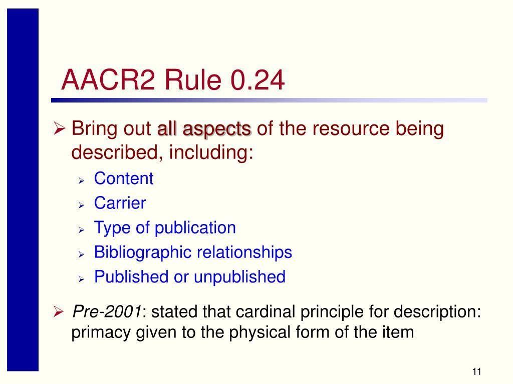 AACR2 Rule 0.24