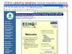 online updating database textual integrating resource