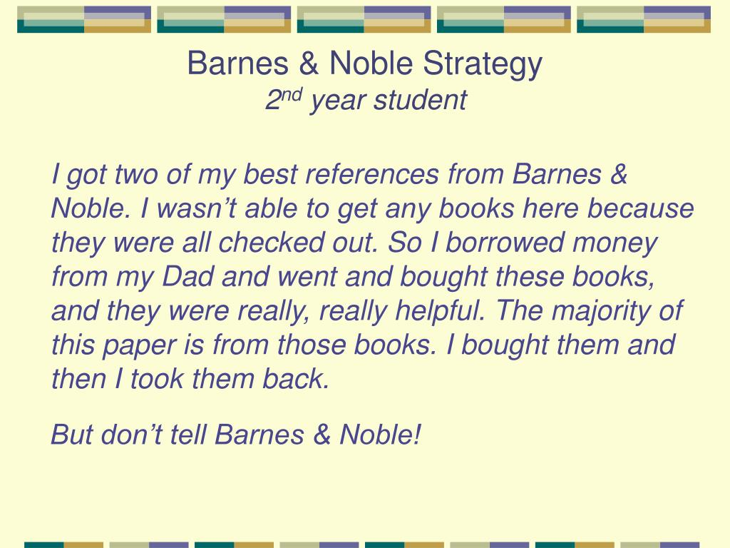 Barnes & Noble Strategy