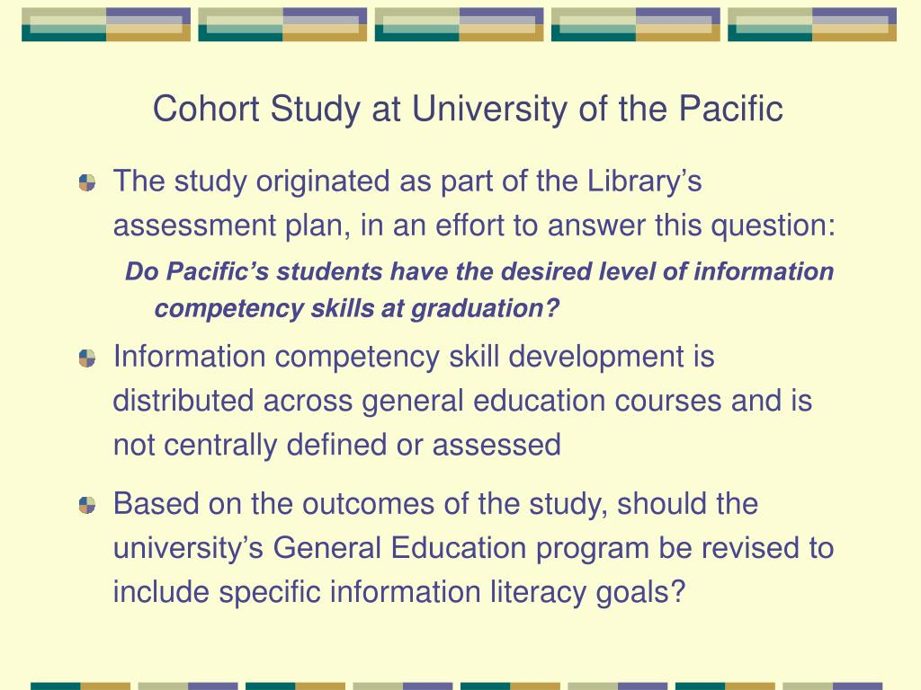 Cohort Study at University of the Pacific