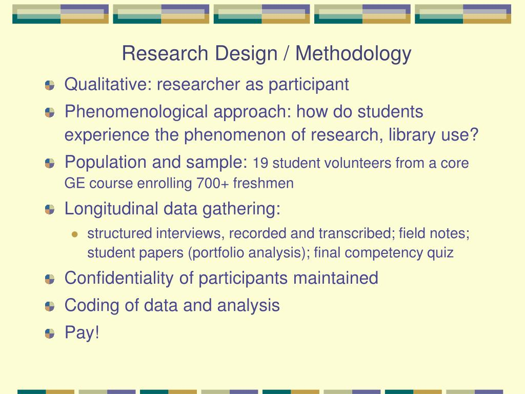Research Design / Methodology