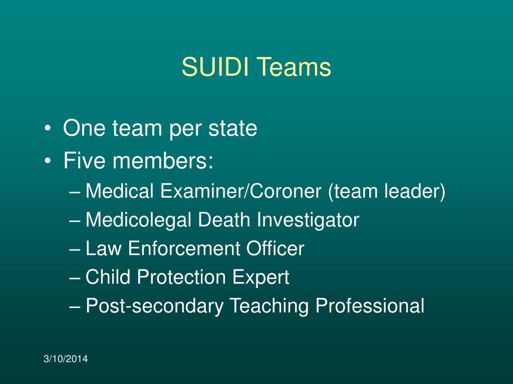 SUIDI Teams
