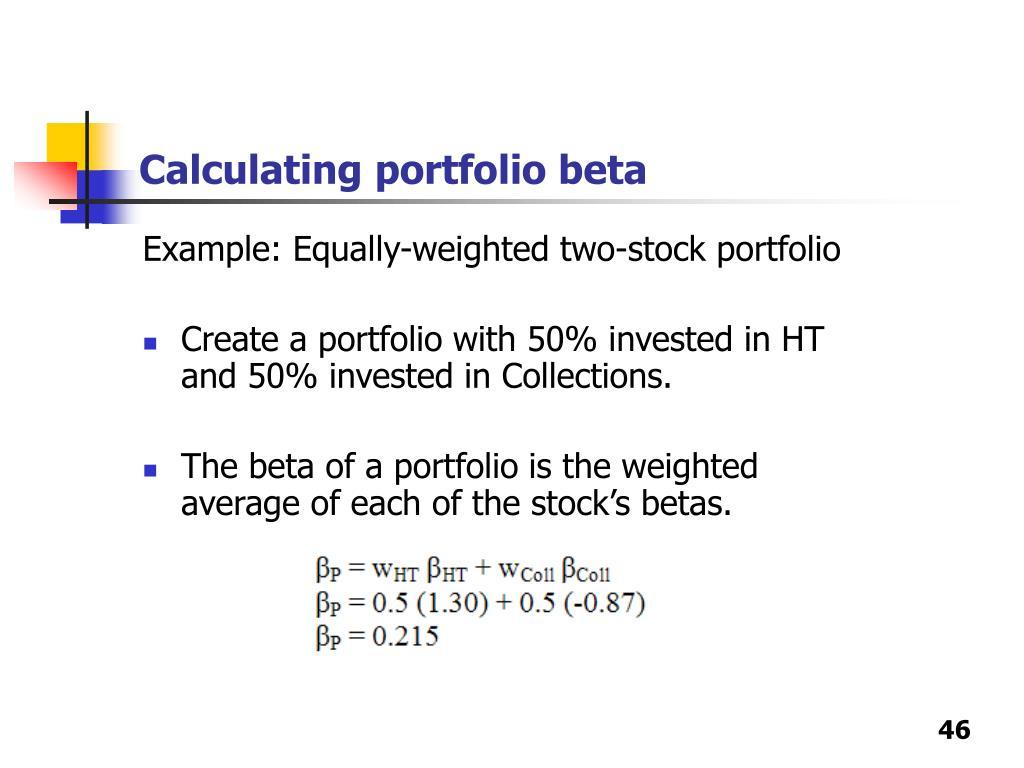 Calculating portfolio beta
