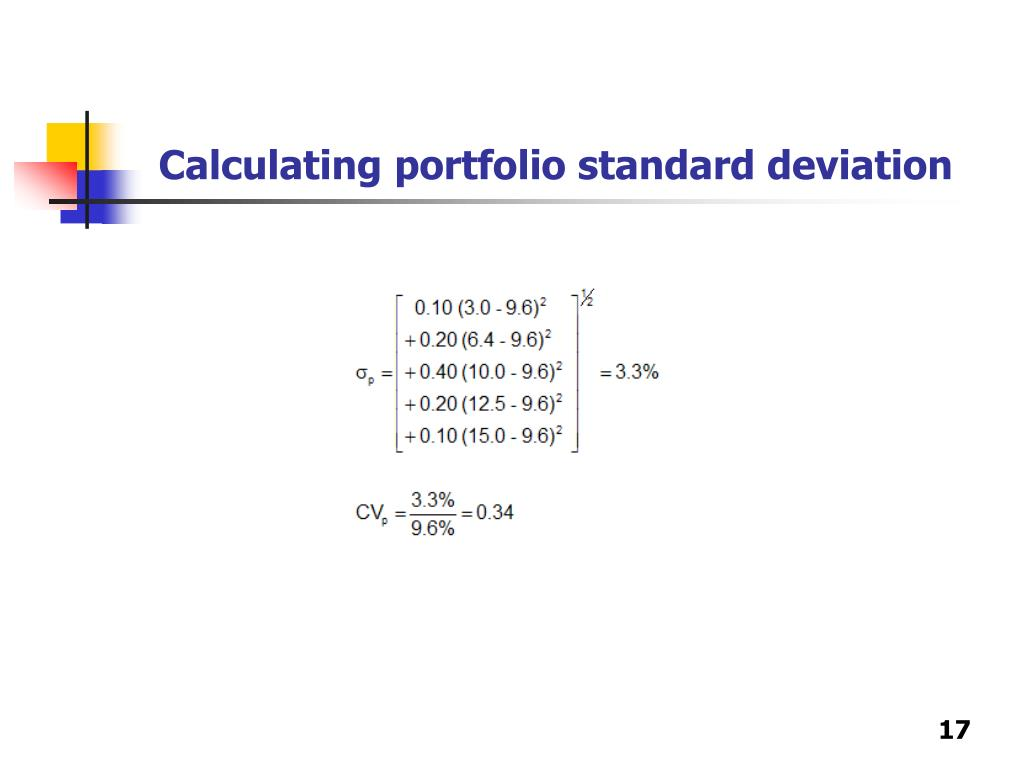 Calculating portfolio standard deviation