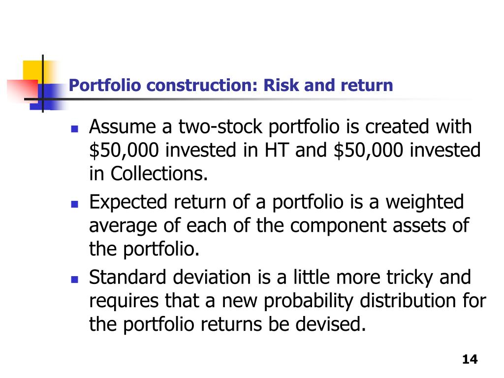 Portfolio construction: Risk and return