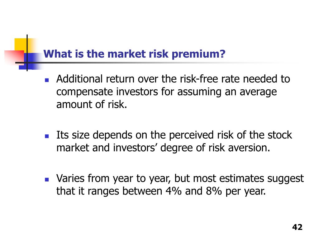 What is the market risk premium?