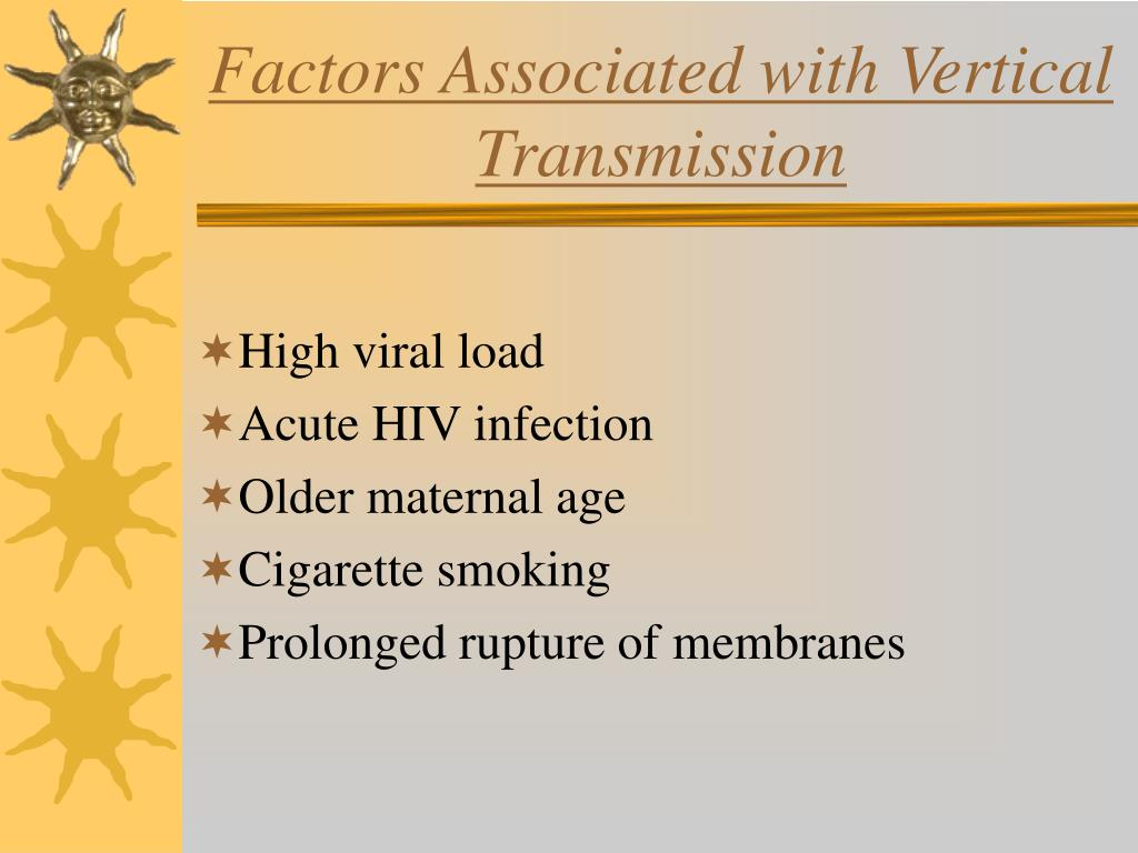 Factors Associated with Vertical Transmission