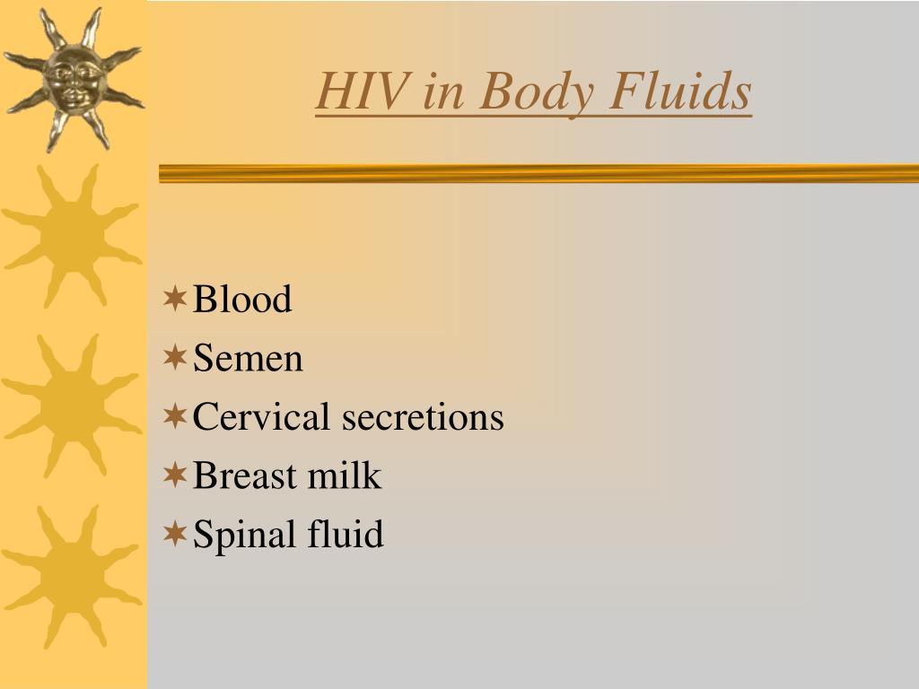 HIV in Body Fluids