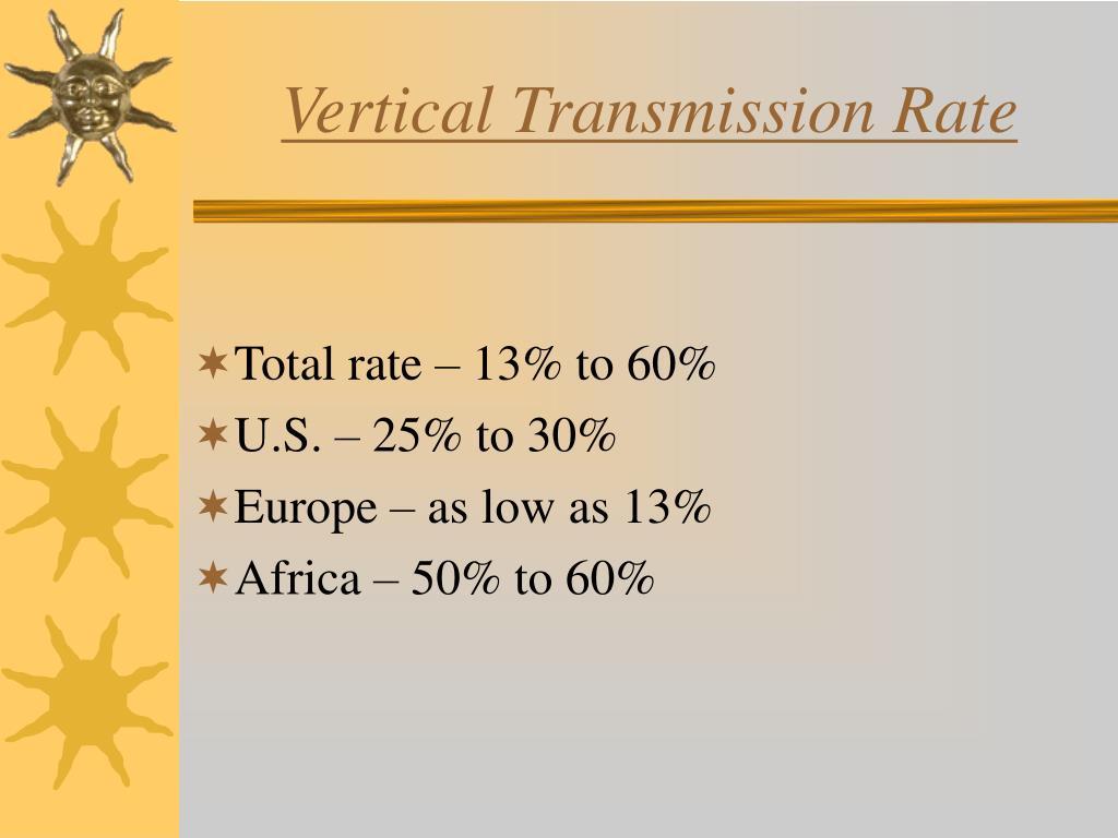 Vertical Transmission Rate