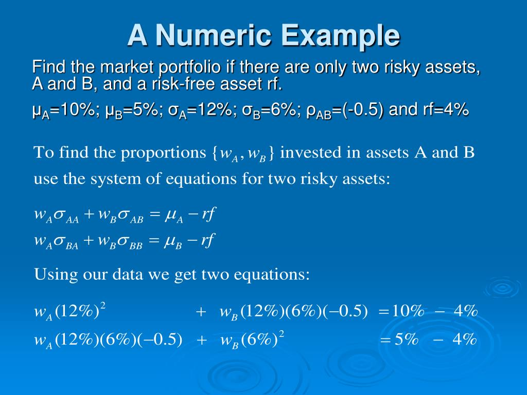 A Numeric Example