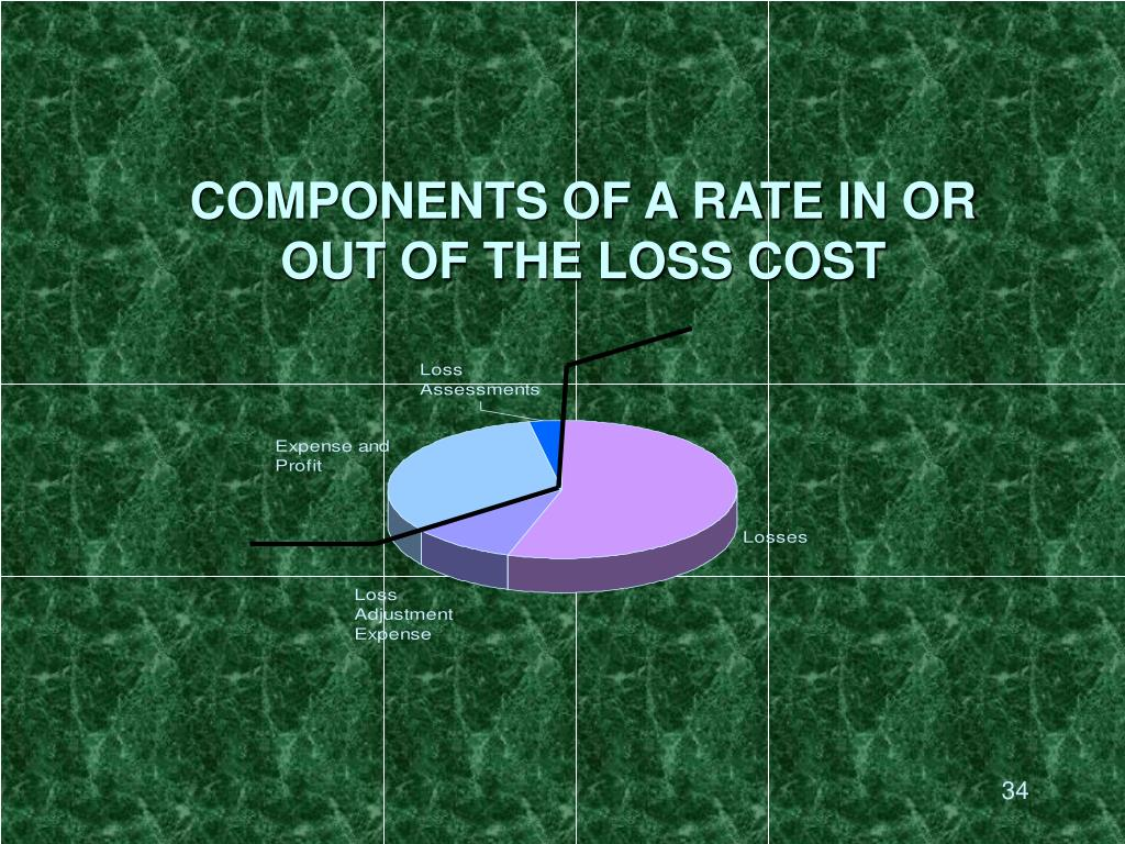 COMPONENTS OF A RATE IN OR OUT OF THE LOSS COST