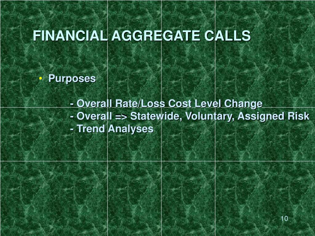 FINANCIAL AGGREGATE CALLS