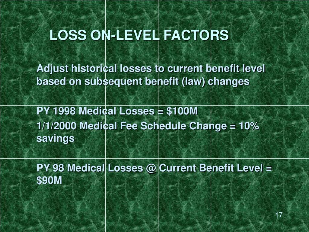 LOSS ON-LEVEL FACTORS