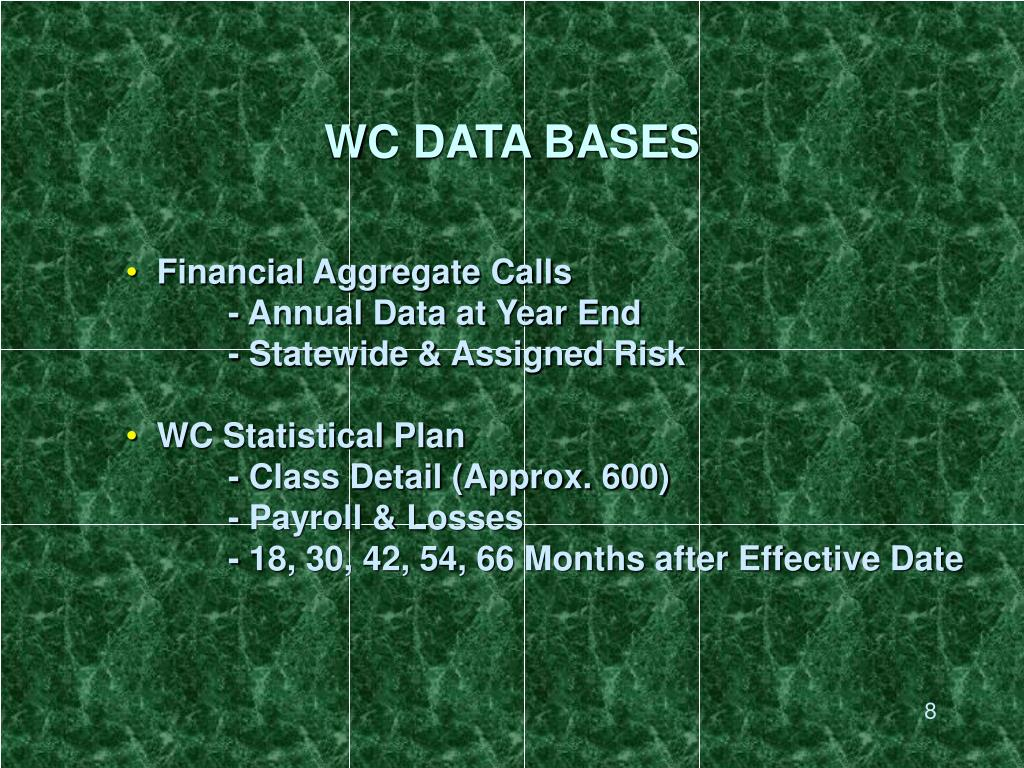 WC DATA BASES