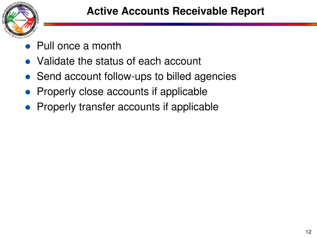 Active Accounts Receivable Report