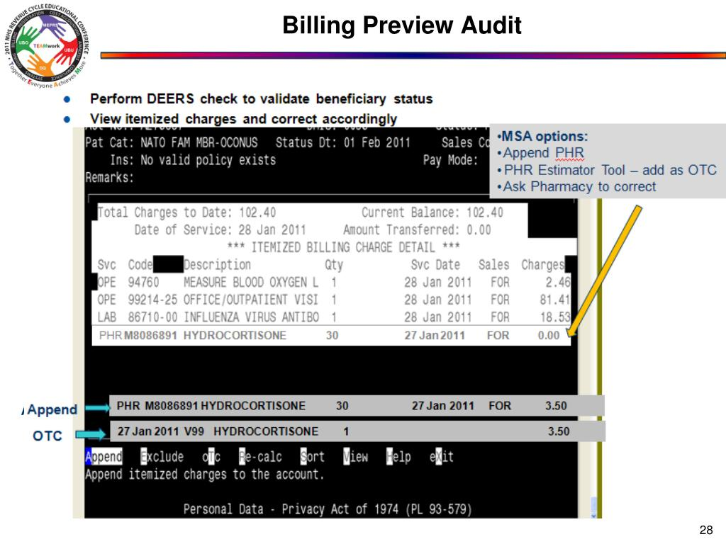 Billing Preview Audit