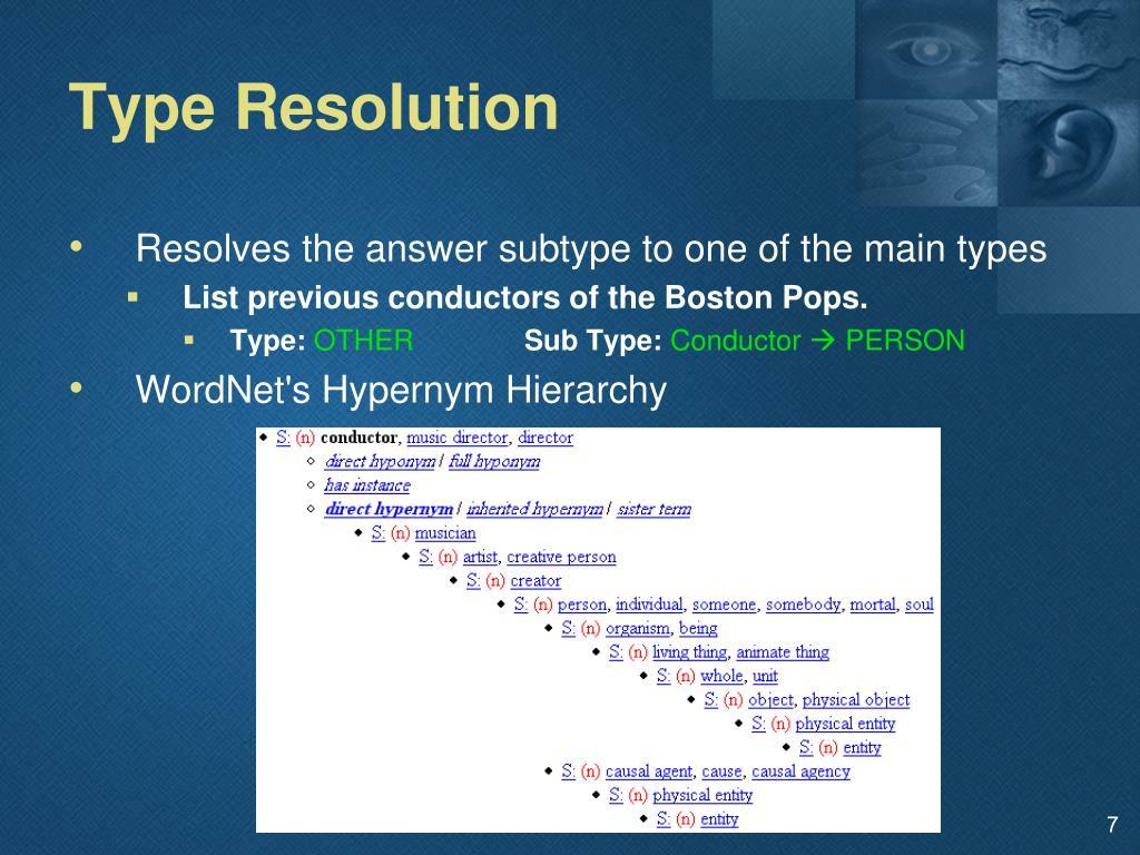 Type Resolution