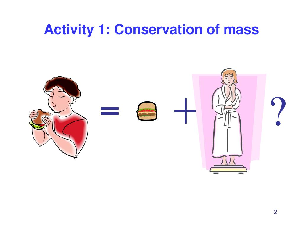 Activity 1: Conservation of mass