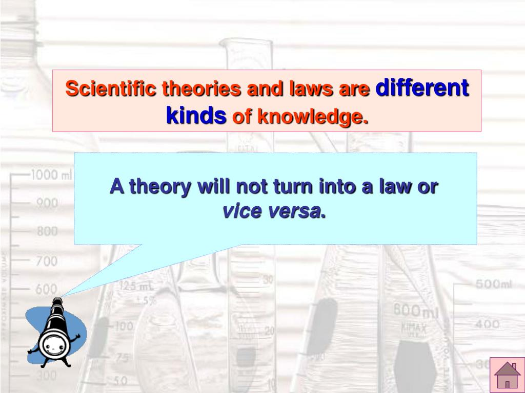 A theory will not turn into a law or