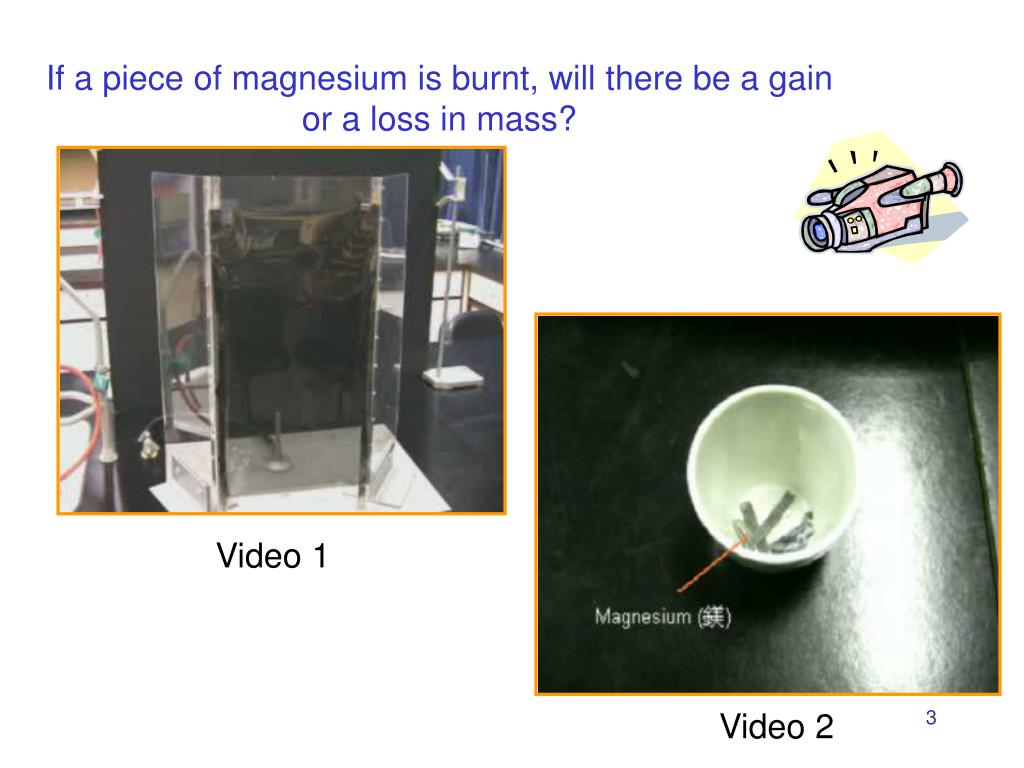 If a piece of magnesium is burnt, will there be a gain or a loss in mass?