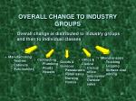 overall change to industry groups