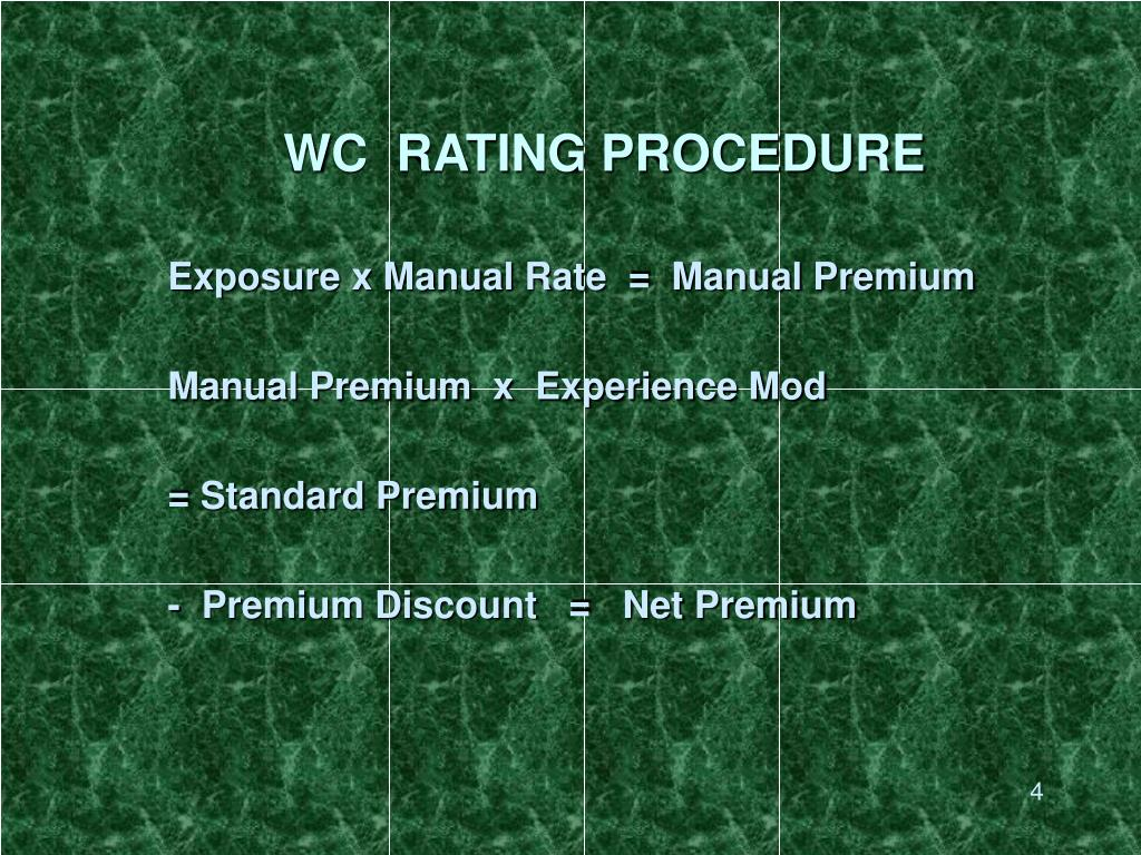 WC  RATING PROCEDURE