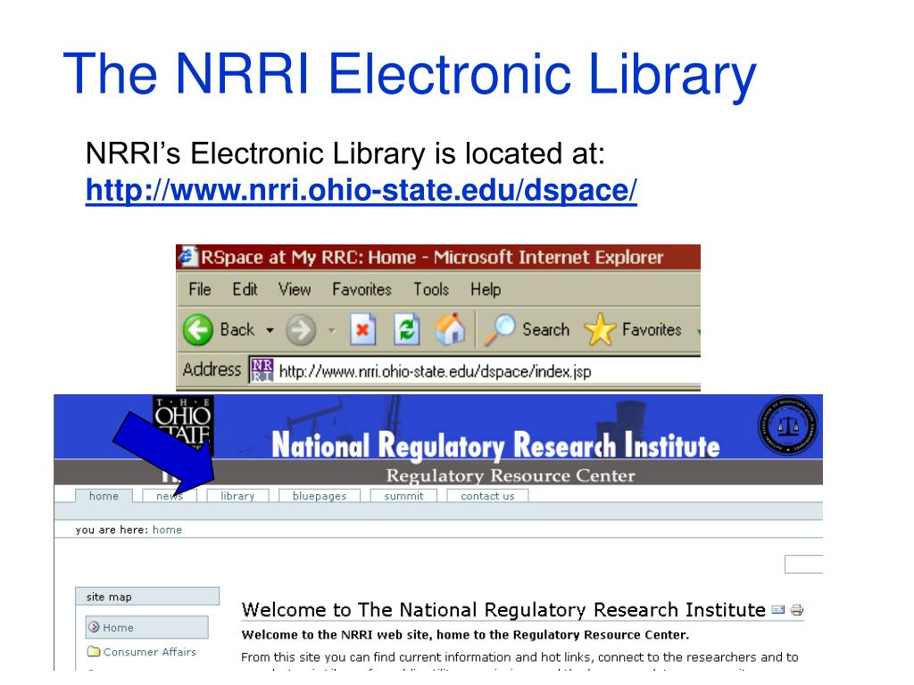The NRRI Electronic Library