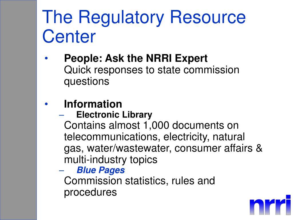 The Regulatory Resource Center