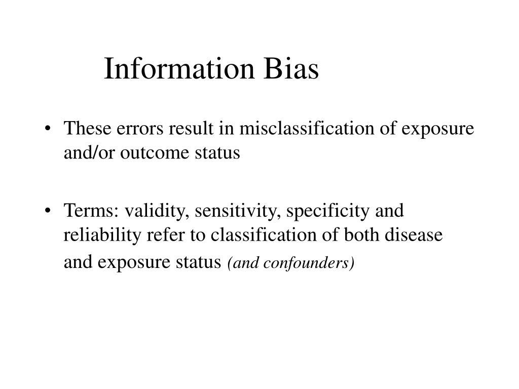 Information Bias
