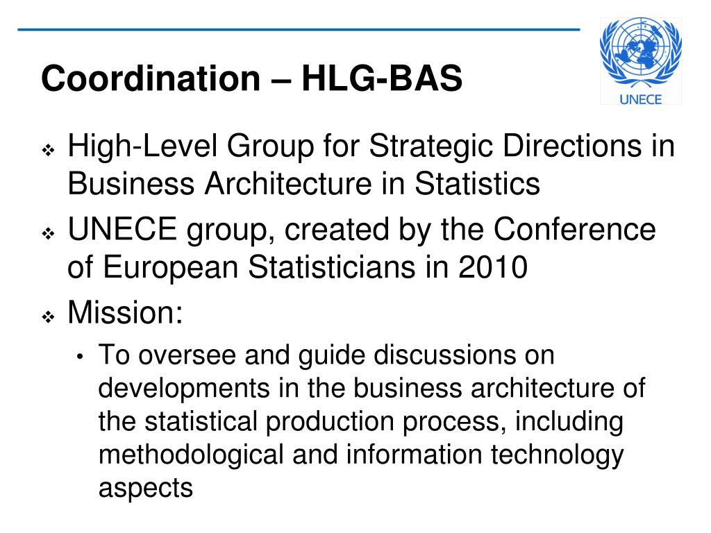 Coordination – HLG-BAS