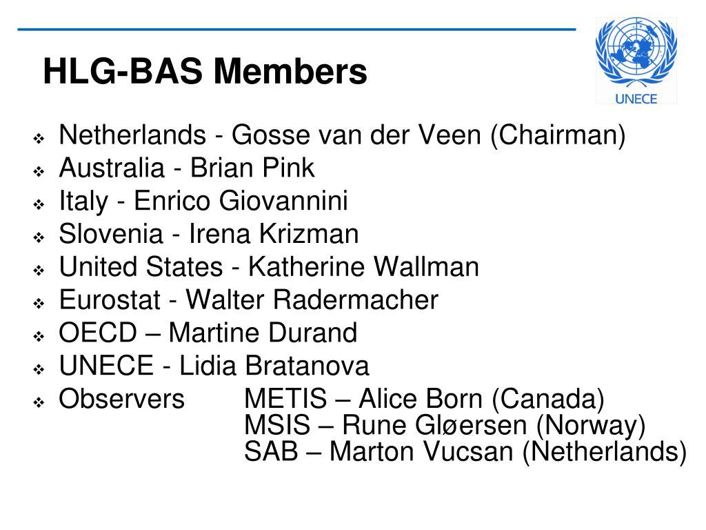HLG-BAS Members