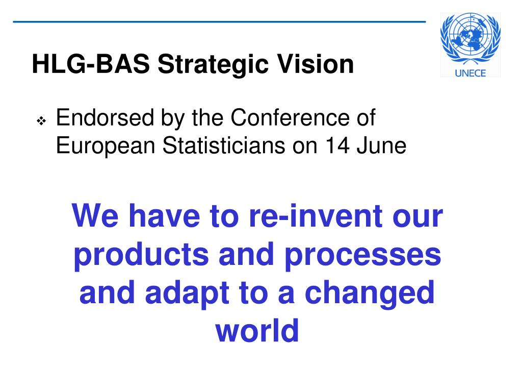 HLG-BAS Strategic Vision
