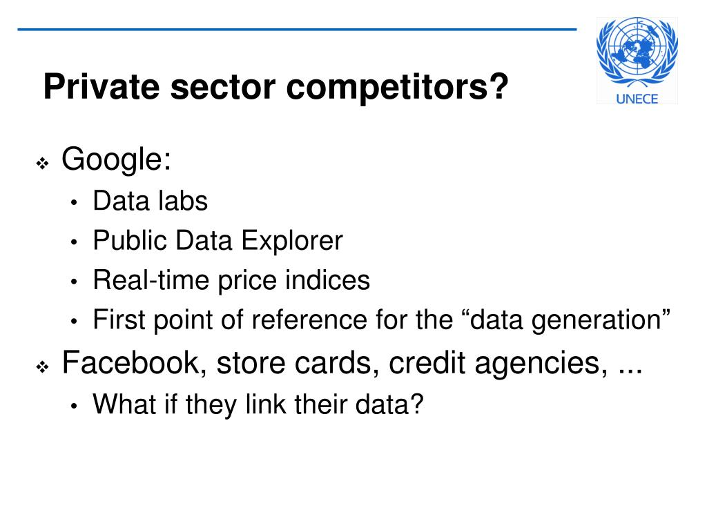 Private sector competitors?