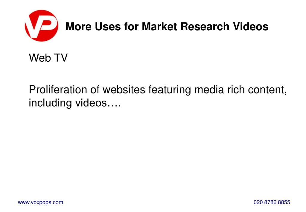 More Uses for Market Research Videos