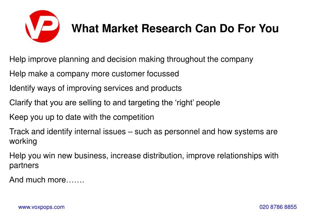 What Market Research Can Do For You