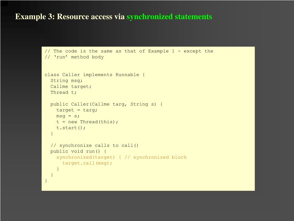 Example 3: Resource access via