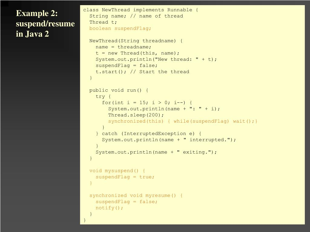 class NewThread implements Runnable {