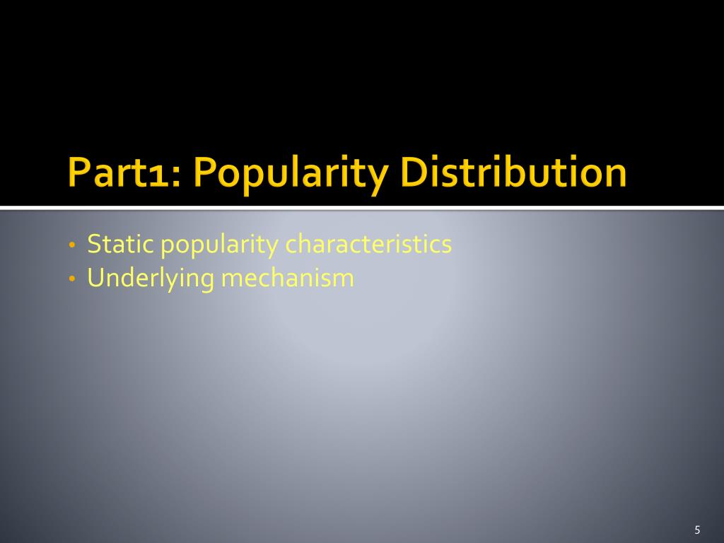 Part1: Popularity Distribution