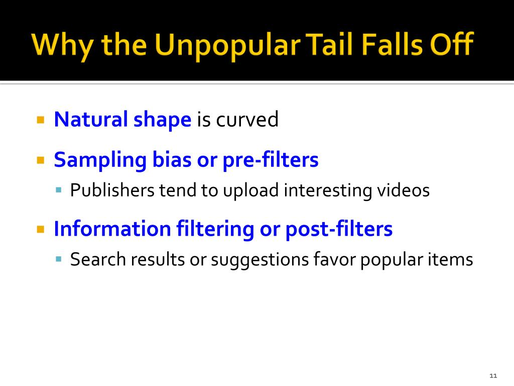 Why the Unpopular Tail Falls Off