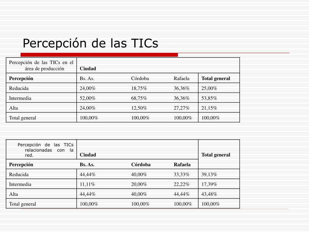 Percepción de las TICs