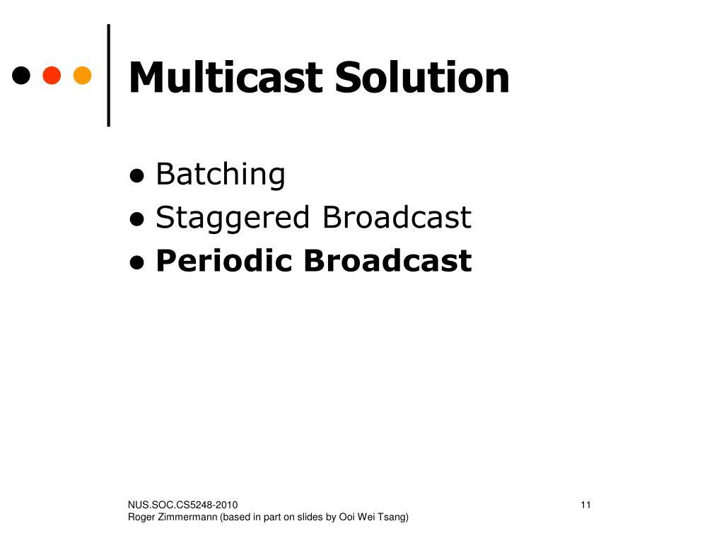 Multicast Solution